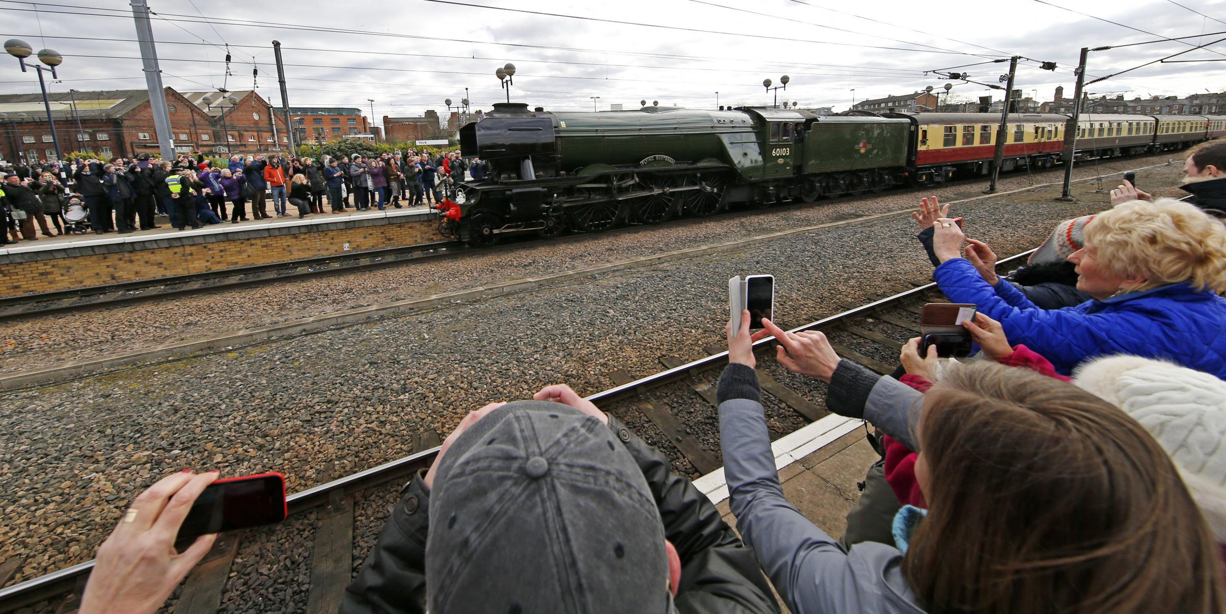 Flying Scotsman on London King's Cross to York run